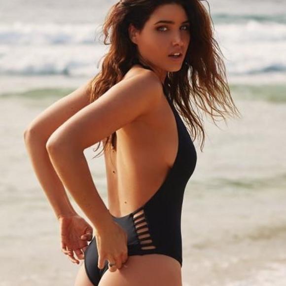 289b457b6c Vitamin A Swim   Bianca Black One Piece Bodysuit   Poshmark